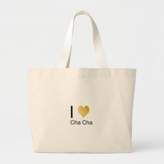 Elegant I Heart Cha Cha Large Tote Bag
