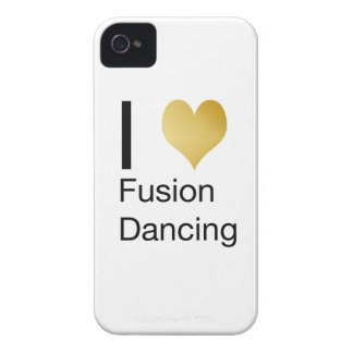 Elegant I Heart Fusion Dancing iPhone 4 Cover