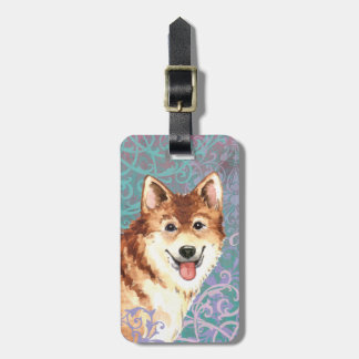 Elegant Icelandic Sheepdog Luggage Tag