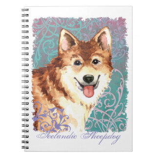 Elegant Icelandic Sheepdog Notebook