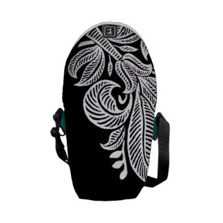 Elegant Indian Pattern Floral Graphic Design Commuter Bag