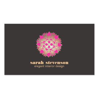 Elegant Interior Design Pink Lotus Business Card