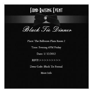 Elegant Invite Fundraiser Formal Black Tie Personalized Invitations