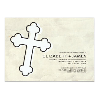 Elegant Iron Cross Wedding Invitations