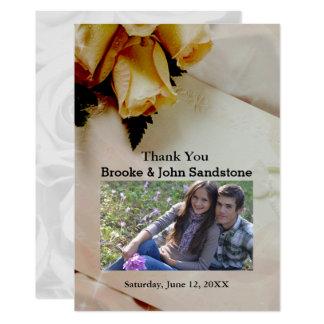 Elegant Ivory - Yellow & White Roses Thank You Card