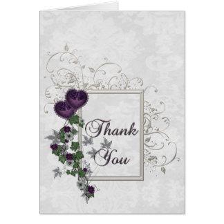Elegant Ivy Wedding Suite Thank You Card