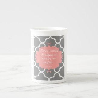 Elegant Jane Austen quote mug
