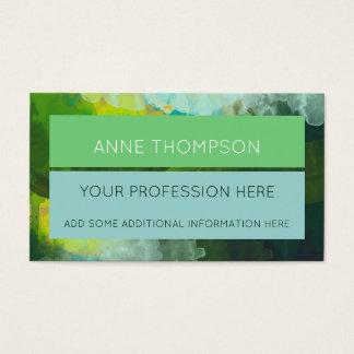 élégant jaune et professionnel vert-bleu cartes de visite