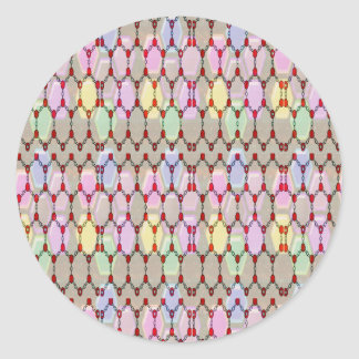 Elegant Jewel Pattern Romance Bless NVN288 fun gif Round Sticker