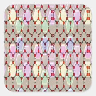 Elegant Jewel Pattern Romance Bless NVN288 fun gif Square Sticker
