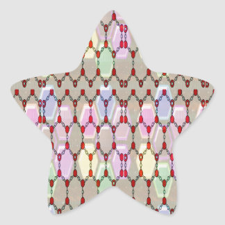 Elegant Jewel Pattern Romance Bless NVN288 fun gif Star Sticker