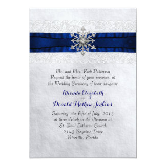 Elegant Jeweled Snowflake Wedding Invitation