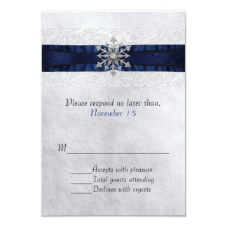 Elegant Jeweled Snowflake Wedding RSVP Card