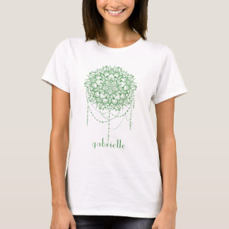 Elegant Jeweled Zen Mandala T-Shirt