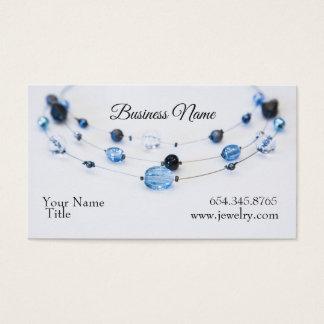Elegant Jewellery Designer Blue Beads Business Card