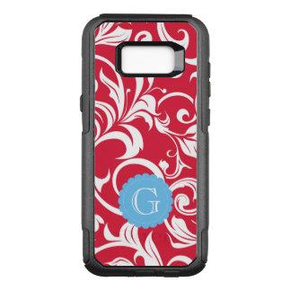 Elegant Juicy Apple Red Wallpaper Swirl Monogram OtterBox Commuter Samsung Galaxy S8+ Case