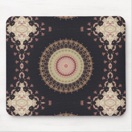 Elegant Kaleidoscope Canvas Pattern Mouse Pad