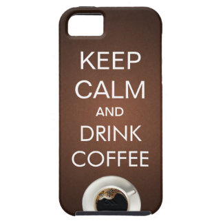 Elegant Keep Calm & Drink Coffee iPhone 5 Case