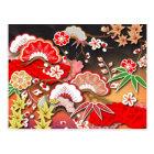 Elegant Kimono - Japanese Design Postcard