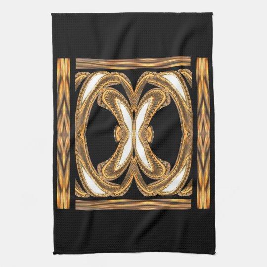 Elegant Kitchen Towel-Home-Gold/Black/White Hand Towel