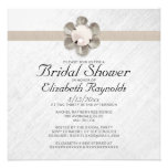 Elegant Lace and Pearl Bridal Shower Invitations Personalized Announcement