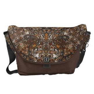 elegant laced damask, baroque. messenger bag
