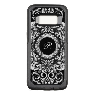 Elegant Ladies Monogram OtterBox Commuter Samsung Galaxy S8 Case
