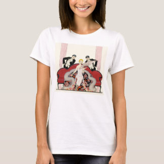 Elegant Lady in Paris Art Deco T-shirt