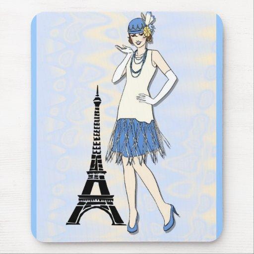 Elegant lady in Paris Mouse Pad