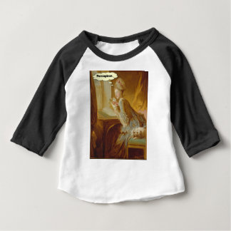 Elegant Lady Thinks About Porcupines Baby T-Shirt