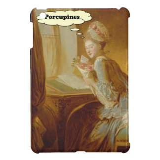 Elegant Lady Thinks About Porcupines Cover For The iPad Mini