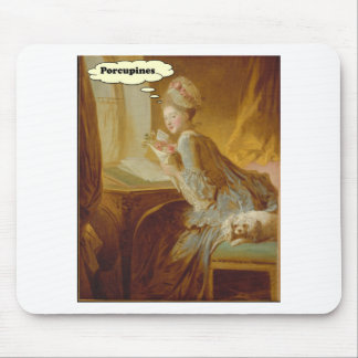 Elegant Lady Thinks About Porcupines Mouse Pad