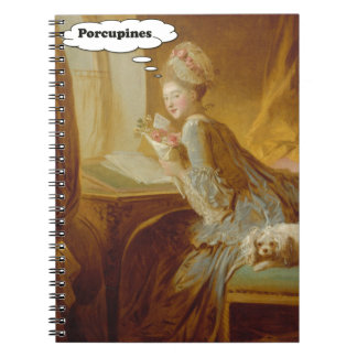 Elegant Lady Thinks About Porcupines Notebooks