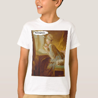Elegant Lady Thinks About Porcupines T-Shirt