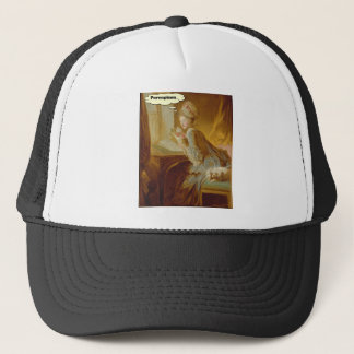 Elegant Lady Thinks About Porcupines Trucker Hat