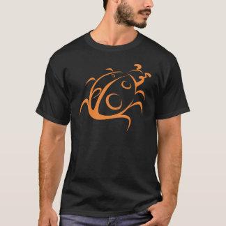 Elegant Ladybug Tattoo Style T-Shirt