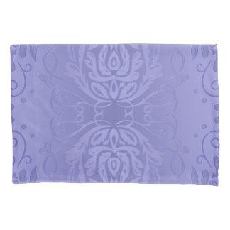 Elegant Lavender Floral Damask Pillowcase
