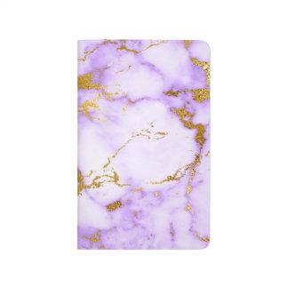 Elegant Lavender Gold Faux Metallic Marble Pattern Journal