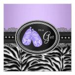 Elegant Lavender Purple Zebra Baby Shower