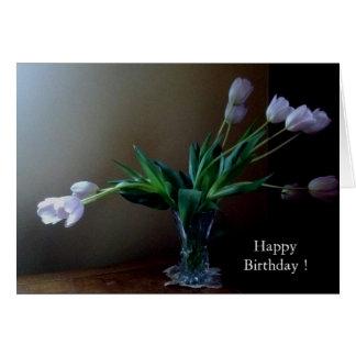 Elegant Lavender Tulip Birthday Card