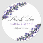Elegant Lavender Wedding Stickers