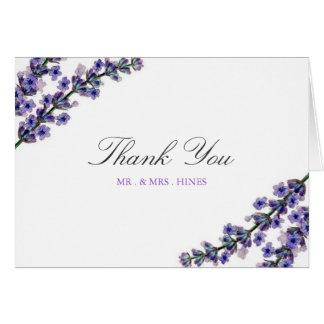 Elegant Lavender Wedding Thank You Card