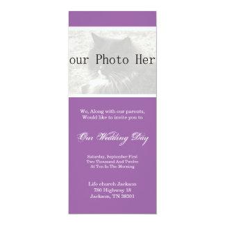 Elegant Lavender Your Photo Wedding Invites