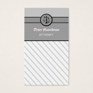 Elegant Law Firm Attorney Lawyer Justice Scales Business Card