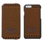 Elegant Leather Style Incipio Watson™ iPhone 6 Wallet Case