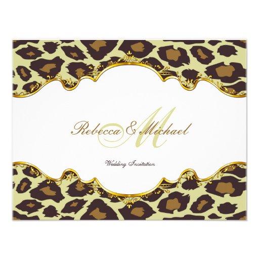 Elegant Leopard Wedding Invites