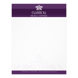 ELEGANT LETTERHEAD :: classy flourish 12