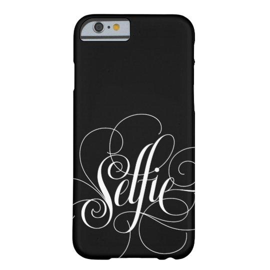 Elegant Lettering 'Selfie' Black iPhone 6 Case