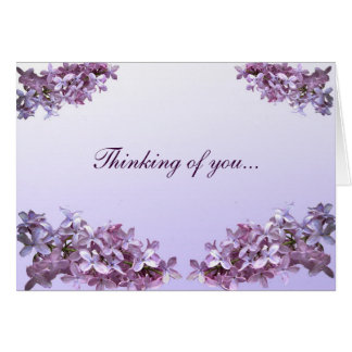 Elegant Lilacs Thinking of You Card