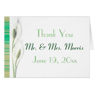 Elegant Lily Floral Wedding thank you Card